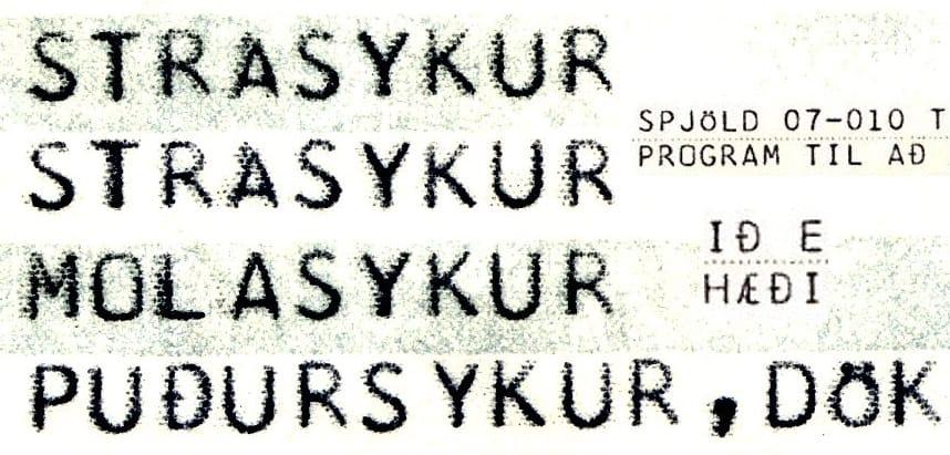 1403 Vintage Mono Pro font, by Jeff Kellem